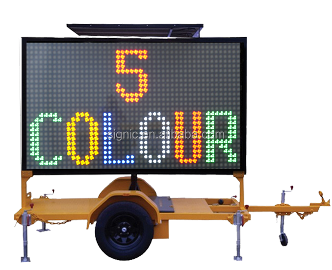trailer mounted led display advertising electronic led display magnetic levitation car display