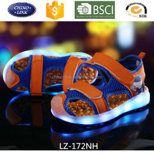 Kids cheap beach sandals led light up shoes buckle strap casual shoes new design