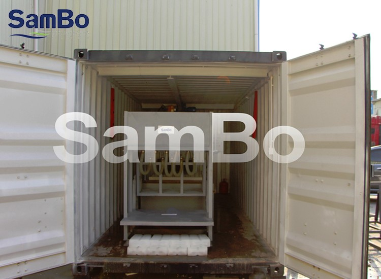 2T CE Containerized Ice Block Making Machine For Sale