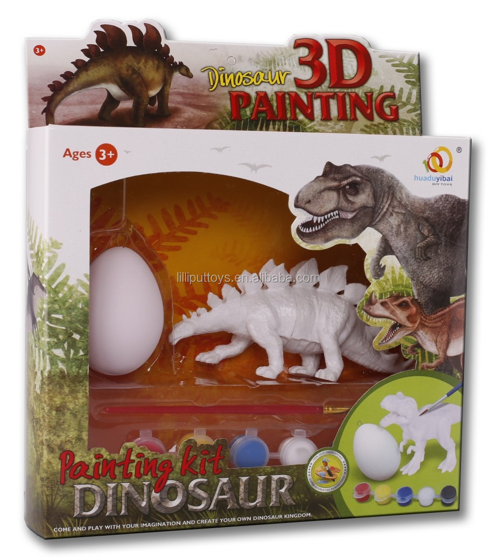 Kids Educational Painting Kit 3D Dinosaur Painting Toy