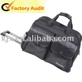 2016 High Quality 600D Travel Trolley Luggage Bag On Wheels