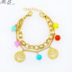 Bead Landing Cute Golden Link Chain Bracelet