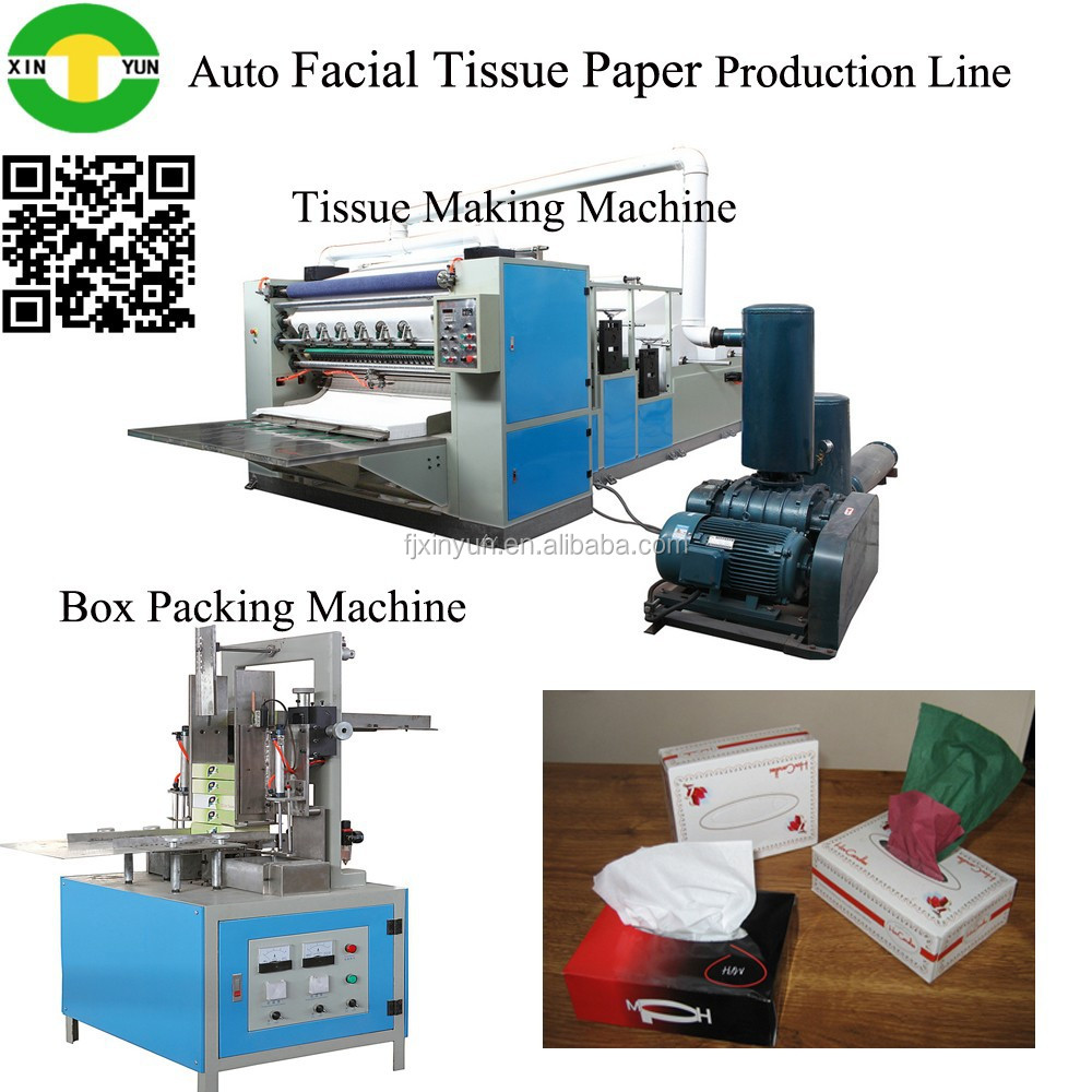 automatic paper box drawing type facial tissue paper processing machinery