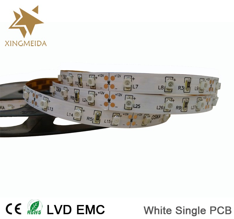 12V SMD 3528 60LED/M IP20 cost efficient flexible led strip light
