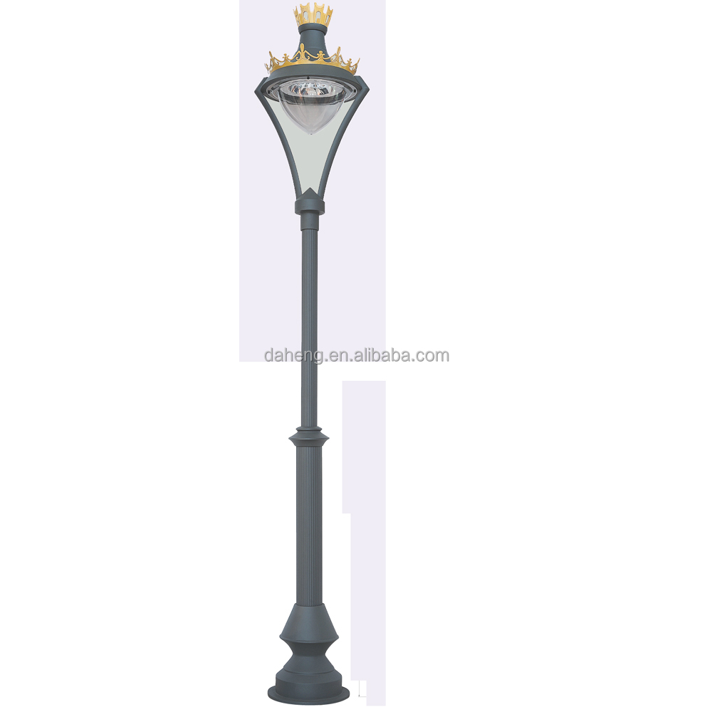Decorative Garden Lighting/Cast Aluminum outdoor Pole Light/outdoor street Light Pole