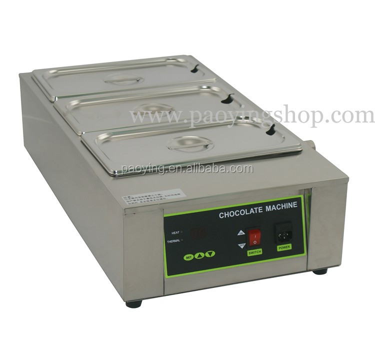 12kg Commercial Use 110v 220v Electric Digital Chocolate Melter with 3 Melting Pot