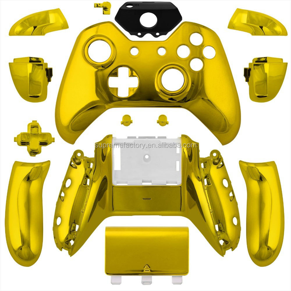 For XBox One Chrome Gold Replacement Wireless Controller Shell Full Housing Case with Tool