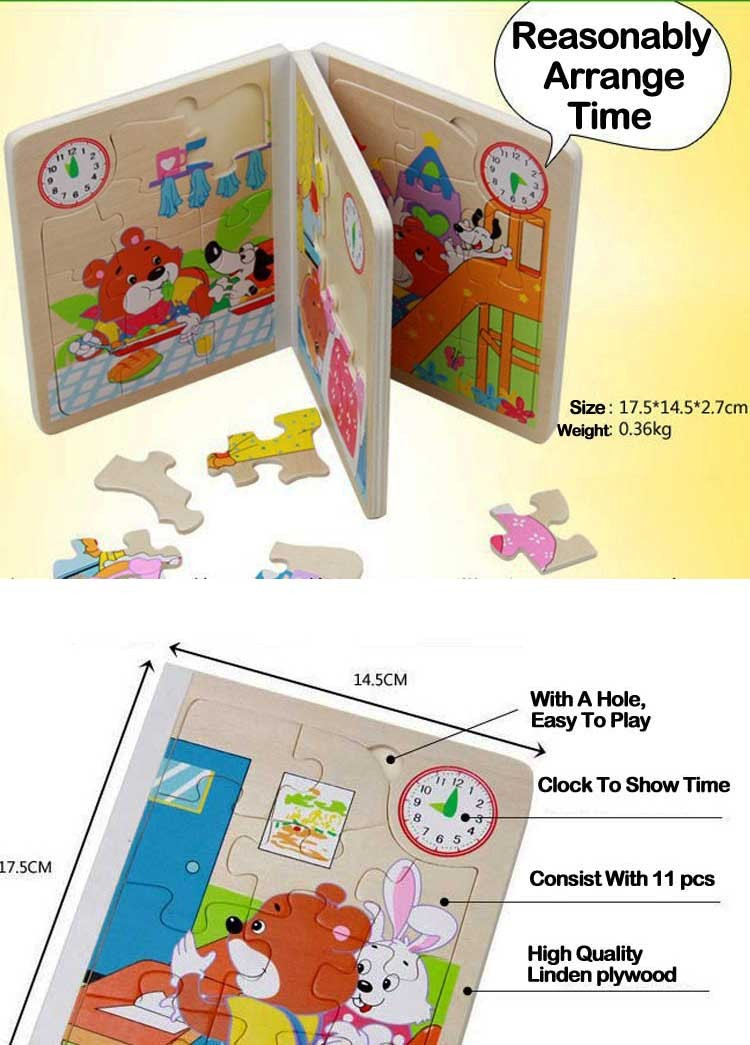 Education Child Wood Book Printing Funny Story Comic Book