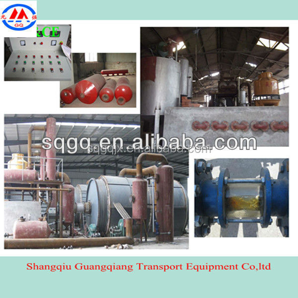 scrap tyre/plastic/rubber pyrolysis plant & oil pyrolysis equipment