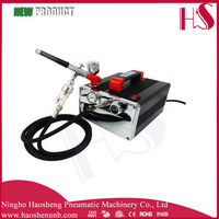 Airbrush Fundation Makeup Kit with Hi-Line Airbrush and Silver Jet Compressor