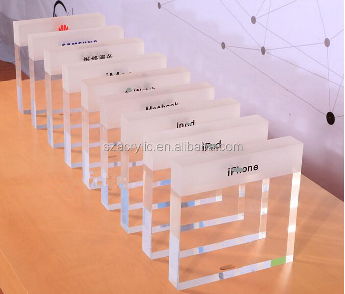 Custom Acrylic Booth Block Sign Display Buy Acrylic