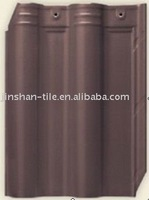 High quality wholesale brown ceramic spanish clay roof tile