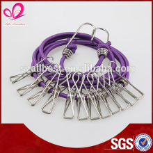 Factory Price elastic clothesline , laundry ropel hooks , any color pp rope