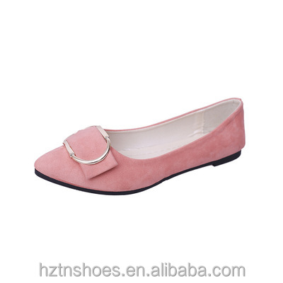 2017 Hot Sale Trend Euro Style <strong>Point</strong> toe Flat Shoes Fashion Soft Sole Low Cut Casual All Match Women Shoes Buckle Design