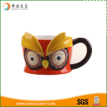 Wholesale bird shaped ceramic mug mark cup with painting