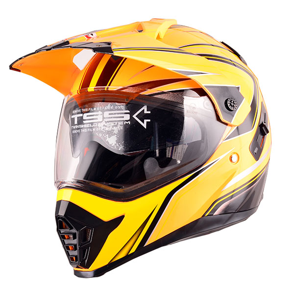 DOT standard dual sport motorcycle helmet off road