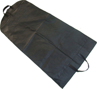 Black Dustproof hanging clothes bag, garment bags customized