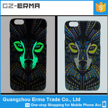2015 New Design Animal Pattern Luminous Plastics Cell Phone Case for iPhone 4