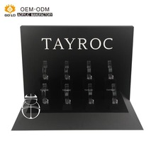 Custom high quality black tabletop acrylic c clip watch display stand