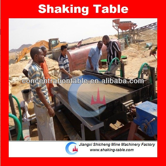 copper separation shaking table