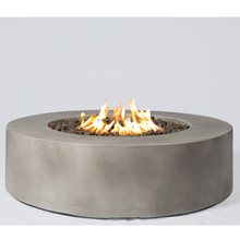 Baltic round Propane Fire pit Table, Glacier Gray
