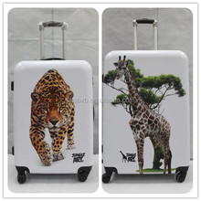 2015 most attractive and durable abs printed hard shell luggage