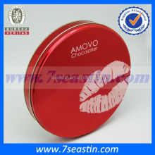 Food grade round metal pizza tin boxes