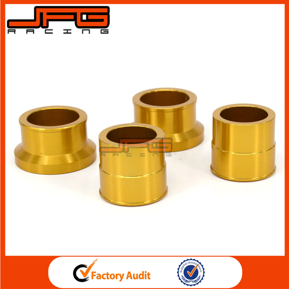 Gold CNC Front & <strong>Rear</strong> Wheel Hub Spacers <strong>Axle</strong> Kit For SUZUKI RMX450Z