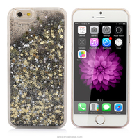 2016 hot selling TPU pc Eiffile Tower Colorful luminous glitter liquided stars flowing case for iphone 5 6 6plus