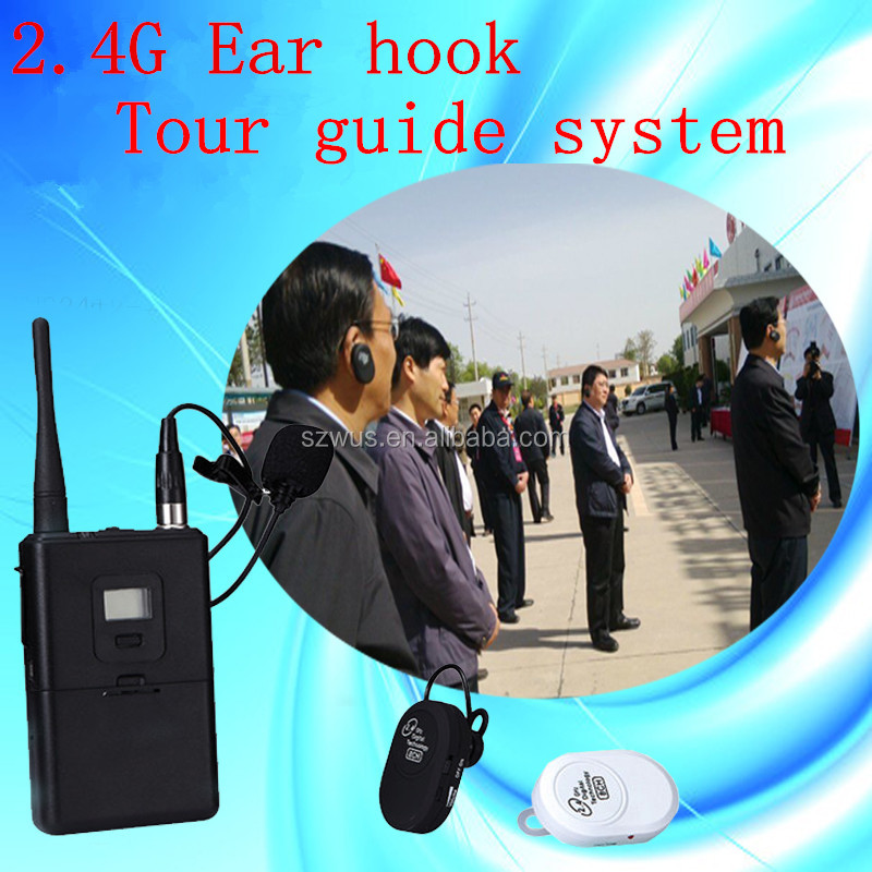 TOP SELLING! Supply China 2.4G Digital wireless tour guide system/audio guides equipment for tourist and factory visiting