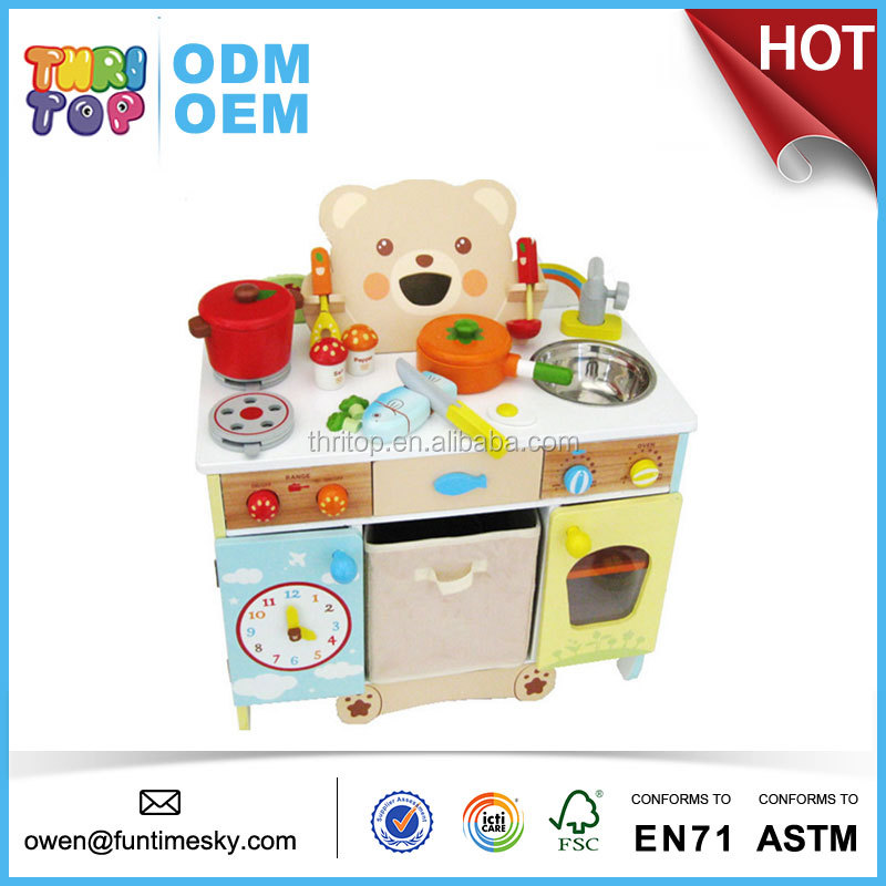 2017 Popular kids Wooden Kitchen toy TH0111
