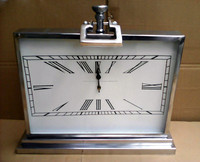 Stainless steel metal table decoration clock in mirror polish finish