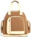 Best Quality Khaki Wrinkle Fabric Baby Diaper Bag Backpack