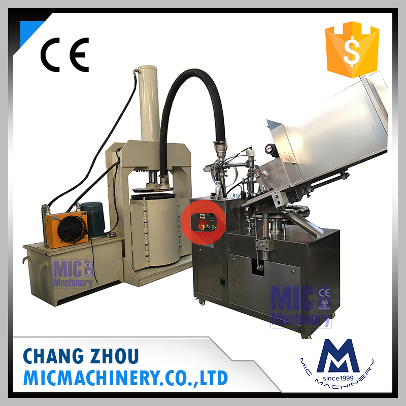 With high material pressing machine Micmachinery MIC-L45 aluminum tube automatic grease filling machine