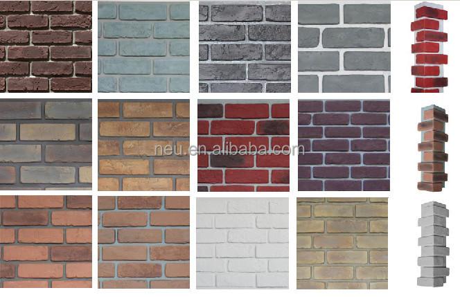 Waterproof Faux Brick Wall Cladding Panels View Faux Brick Wall Cladding Panel Neu Product