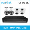 8ch NVR Kit PoE IP Camera Set w/ 2TB HDD for Recording Reolink RLK8-410B2D2