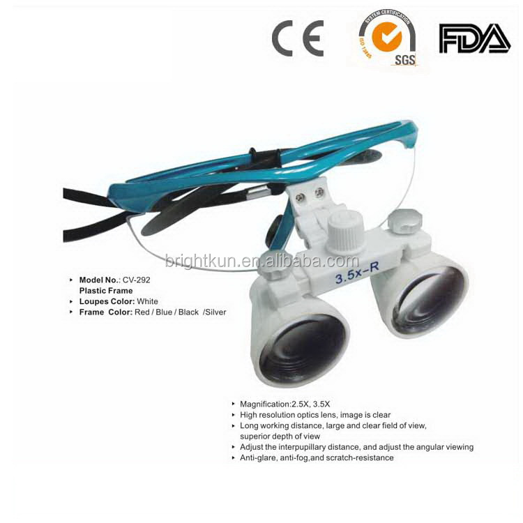 CICADA CE Approved new design dental surgical binocular loupes 2.5X 3.5X