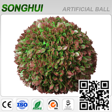 decorative artificial flower plastic hedge leaves boxwood ball