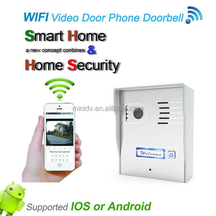 Newest HD 720p WiFi Villa Video Door Phone Support Talking With Visitors By  Mobile Cell Phone Via Android IOS App
