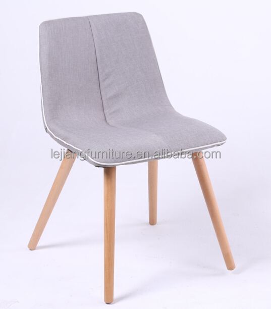 modern fabric hand shaped wood dining room chair