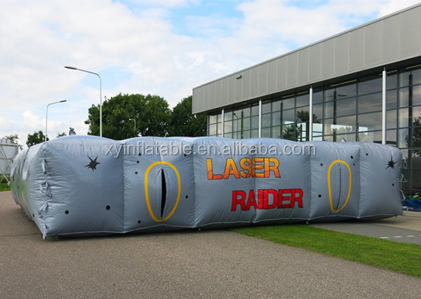 sliver gray laser tag inflatable laser maze for sale