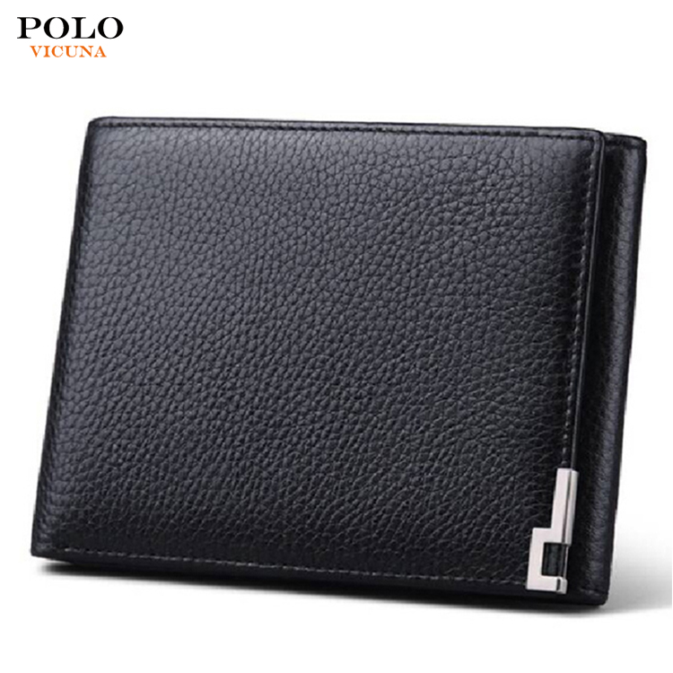 Fashion Design Bifold Compact Genuine Cowhide Leather Men Money Clip Wallet Metal Business Credit Card Holder With Custom Logo