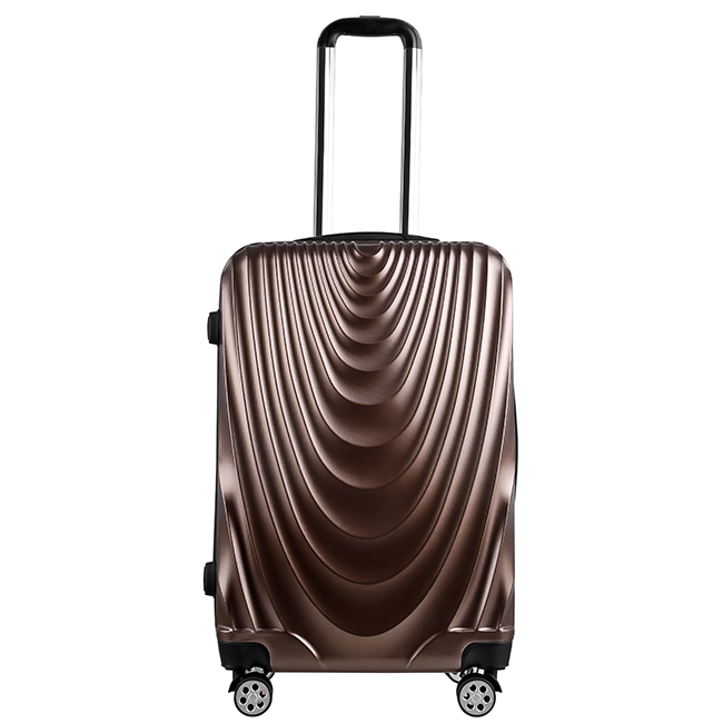 China factory various 3 size light weight PC trolley bags for men suitcases luggage travelling