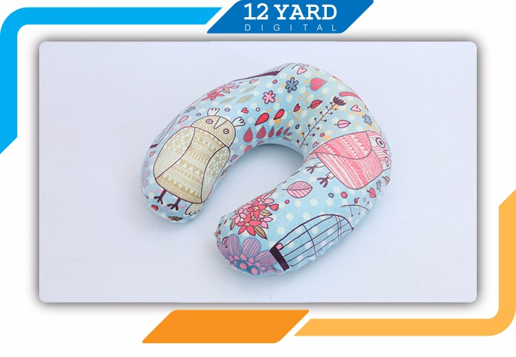 Custom wholesale top quality digital printed travel memory foam pillow travel pillows U shape pillow