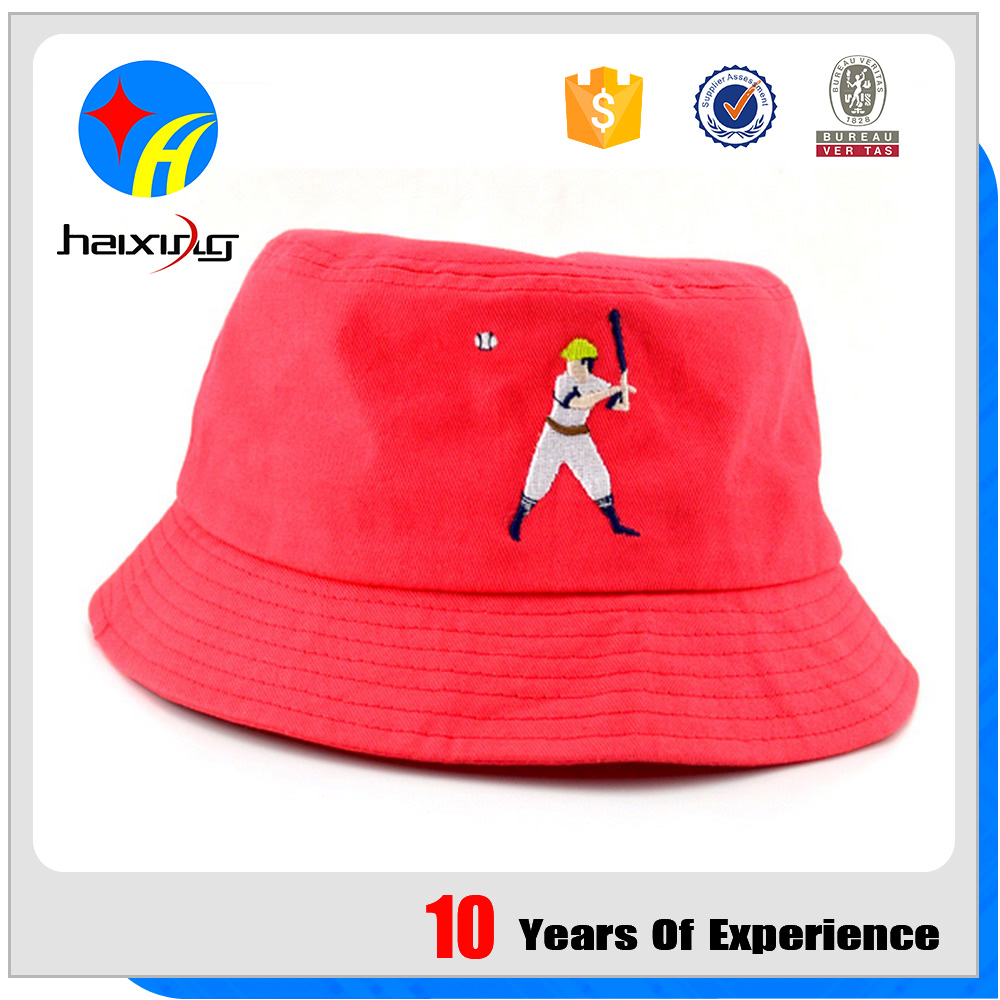 Cotton Twill Bucket Hat And Cap With Athletes Pattern