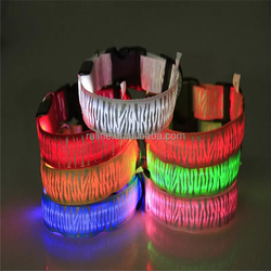 Dog Pet Glow Flashing LED Collar Necklace Leashes Safety Collar Adjustable leash for dogs S M L XL TB033