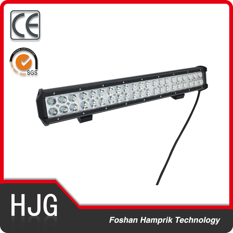 Hot sale off road 126w double row led light bar for Jeep ,4WD ,truck