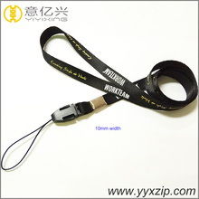High quality small 10mm neoprene neck rope badge holder narrow lanyard for school