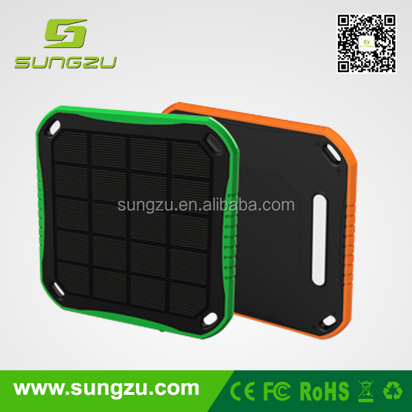 New Unique Product ideas Solar Power Bank 6000mah portable window car solar charger