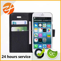 High quality book style wallet flip leather smart phone case for LG G2
